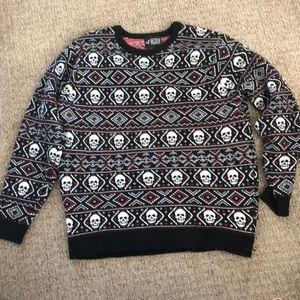 Unisex skull sweater